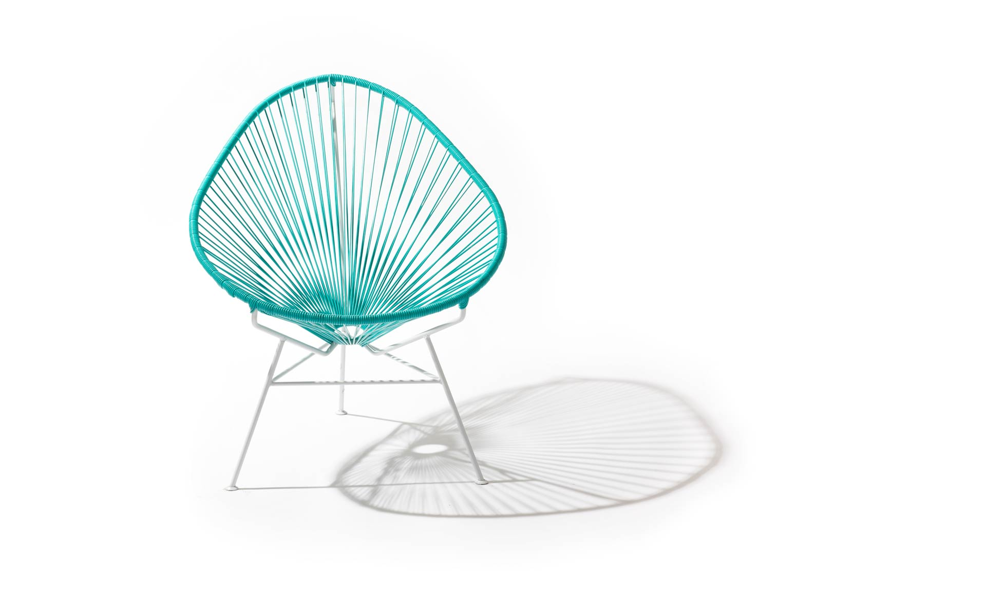Acapulco Chair – Red on Silver Frame