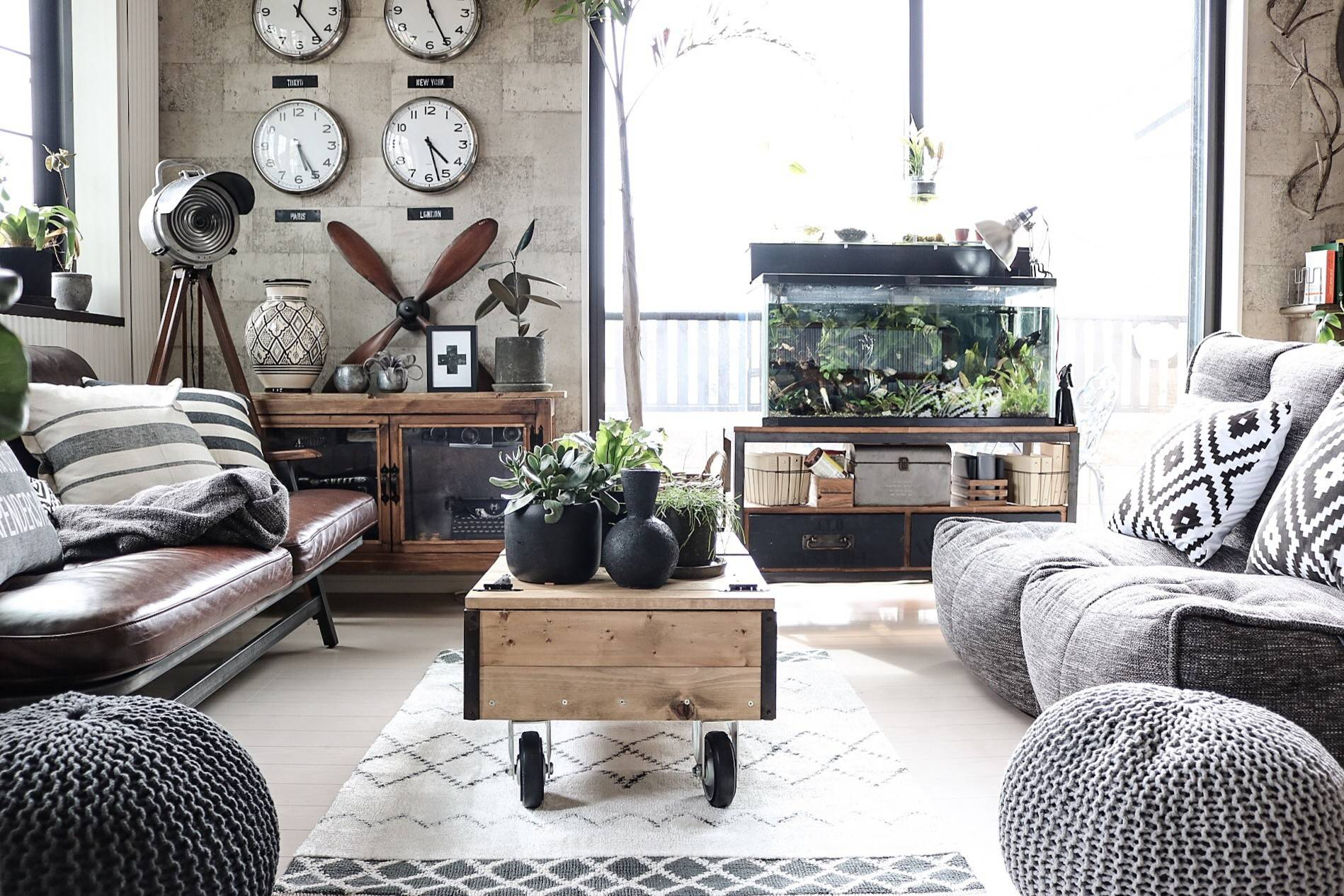A Beanbag Chair In Modern Interior, Bean Bags For Living Room